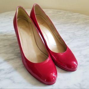 Stuart Weitzman Shoes - Stuart Weitzman Red Patent Leather Heel Pumps
